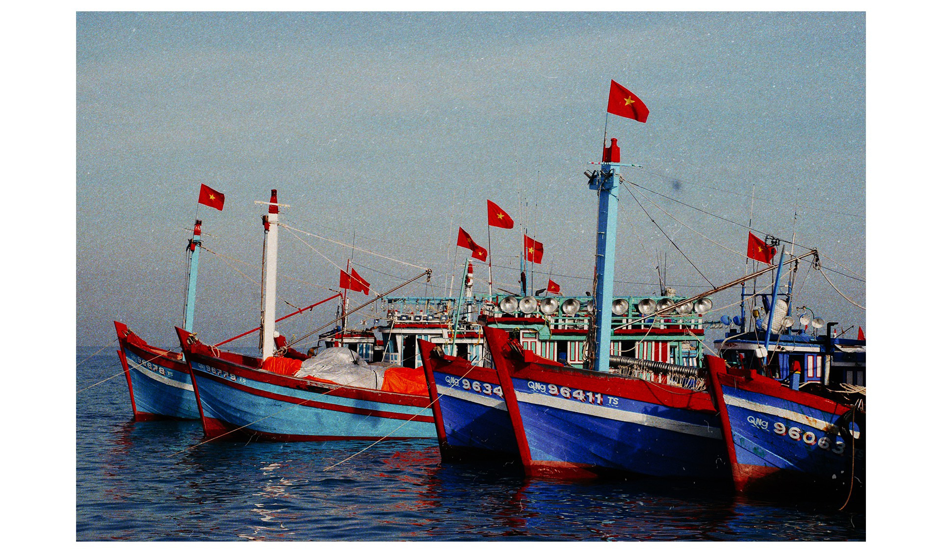 Vietnamese off-shore fishing vessels are seen near Ly Son Island off Quang Ngai Province, Vietnam. Photo: Viet Hung / Tuoi Tre
