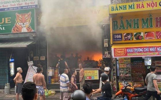 Seven rescued as fire breaks out at diner in Saigon's 'backpacker area'