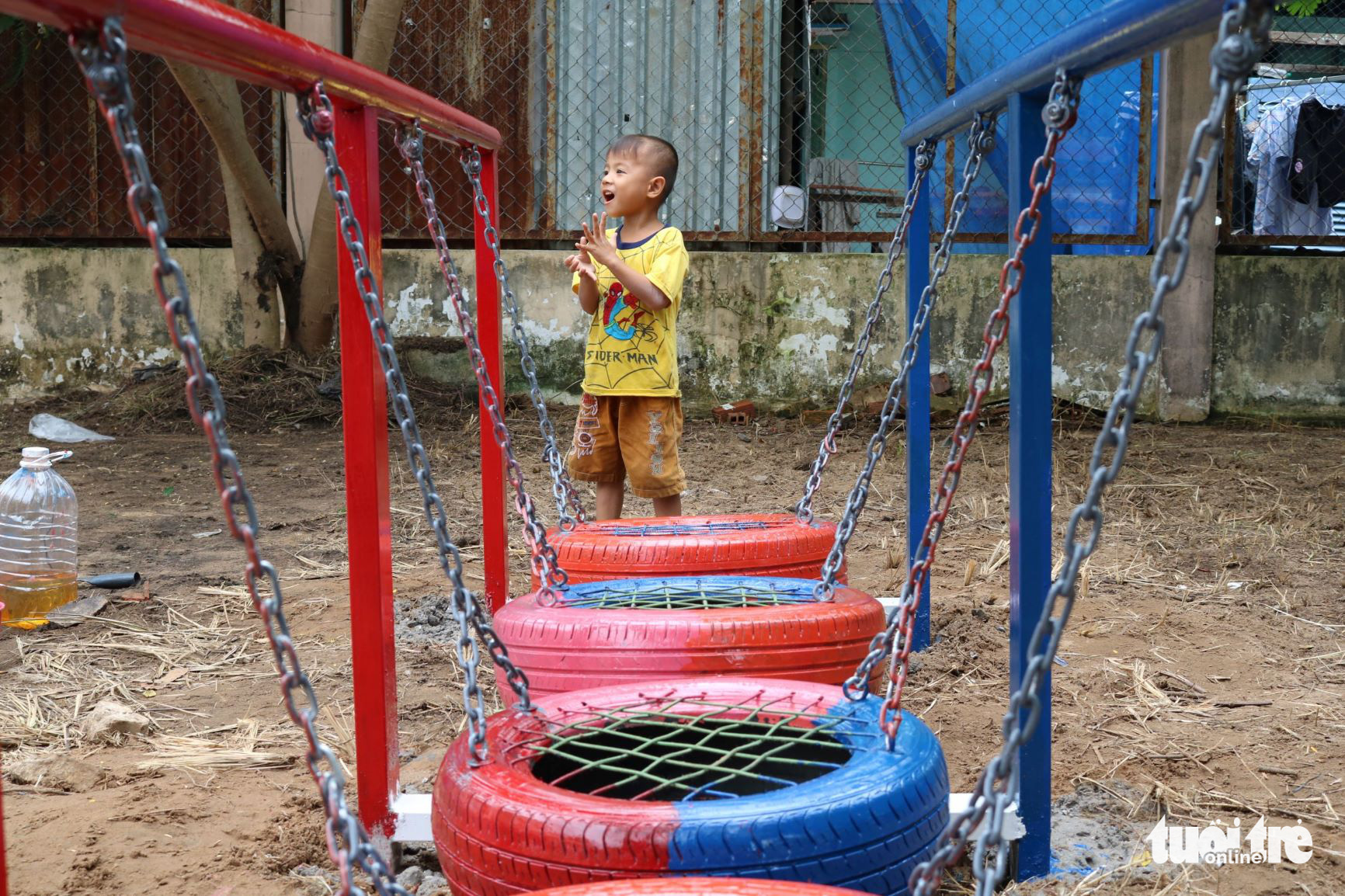 Upcycling old tires into toys for disadvantaged children Vietnam's remote areas