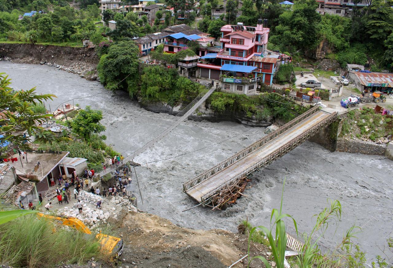 Floods, landslides kill 40 in Nepal, many missing