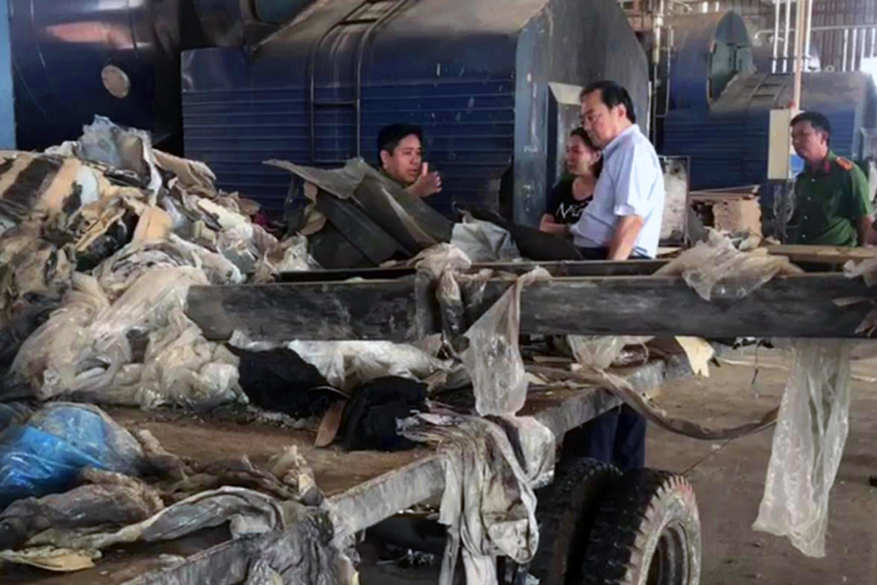 Taiwanese firm caught illegally burning waste in southern Vietnam