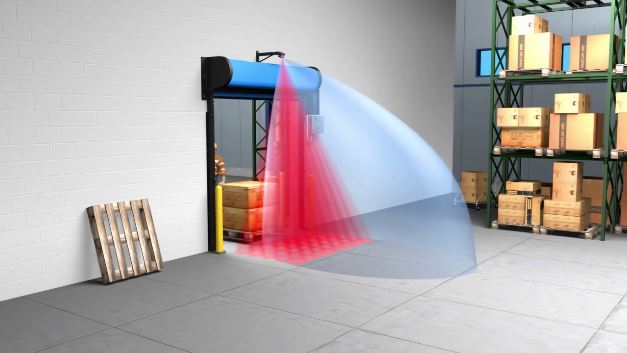 A sensor can identify the motion of people/vehicles near the doorway.