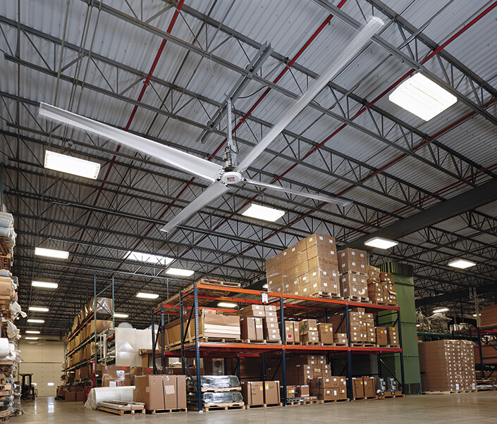 HVLS Fan Rite Hite with coverage of 22,000 square meters