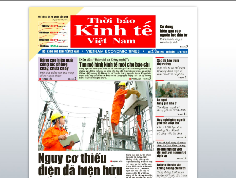Vietnam's 29-yo business newspaper announces dissolution