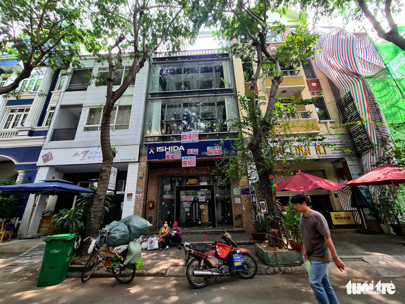 A store is closed on one of the 'Korean Streets' in Tan Phong Ward, District, Ho Chi Minh City, July 19, 2020. Photo: Ngoc Hien / Tuoi Tre