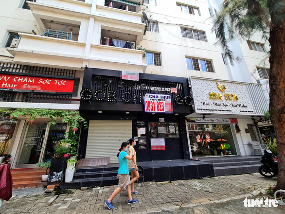 A closed-down location on one of the 'Korean Streets' in Tan Phong Ward, District, Ho Chi Minh City, July 19, 2020. Photo: Ngoc Hien / Tuoi Tre