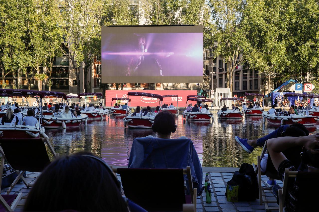 Movie magic as Paris turns the Seine into open-air cinema