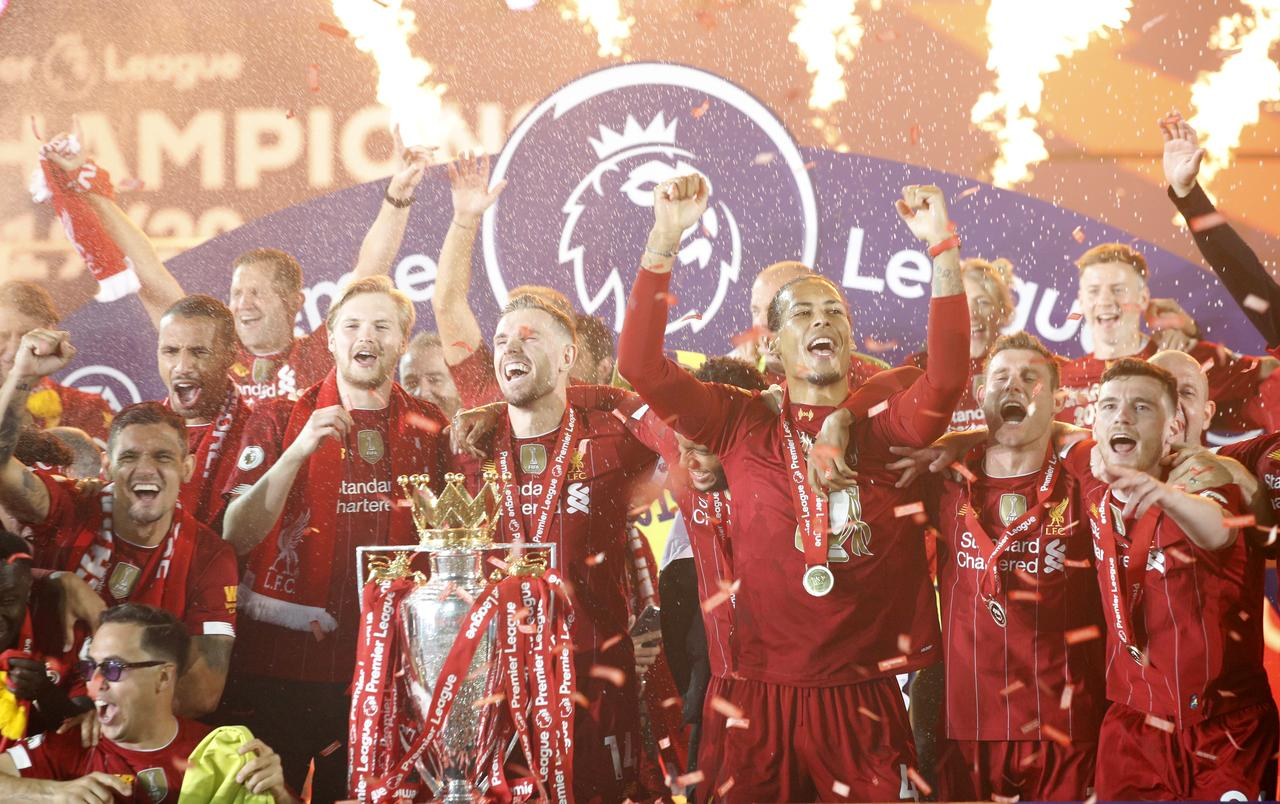 Liverpool celebrate long-awaited title in front of empty Kop
