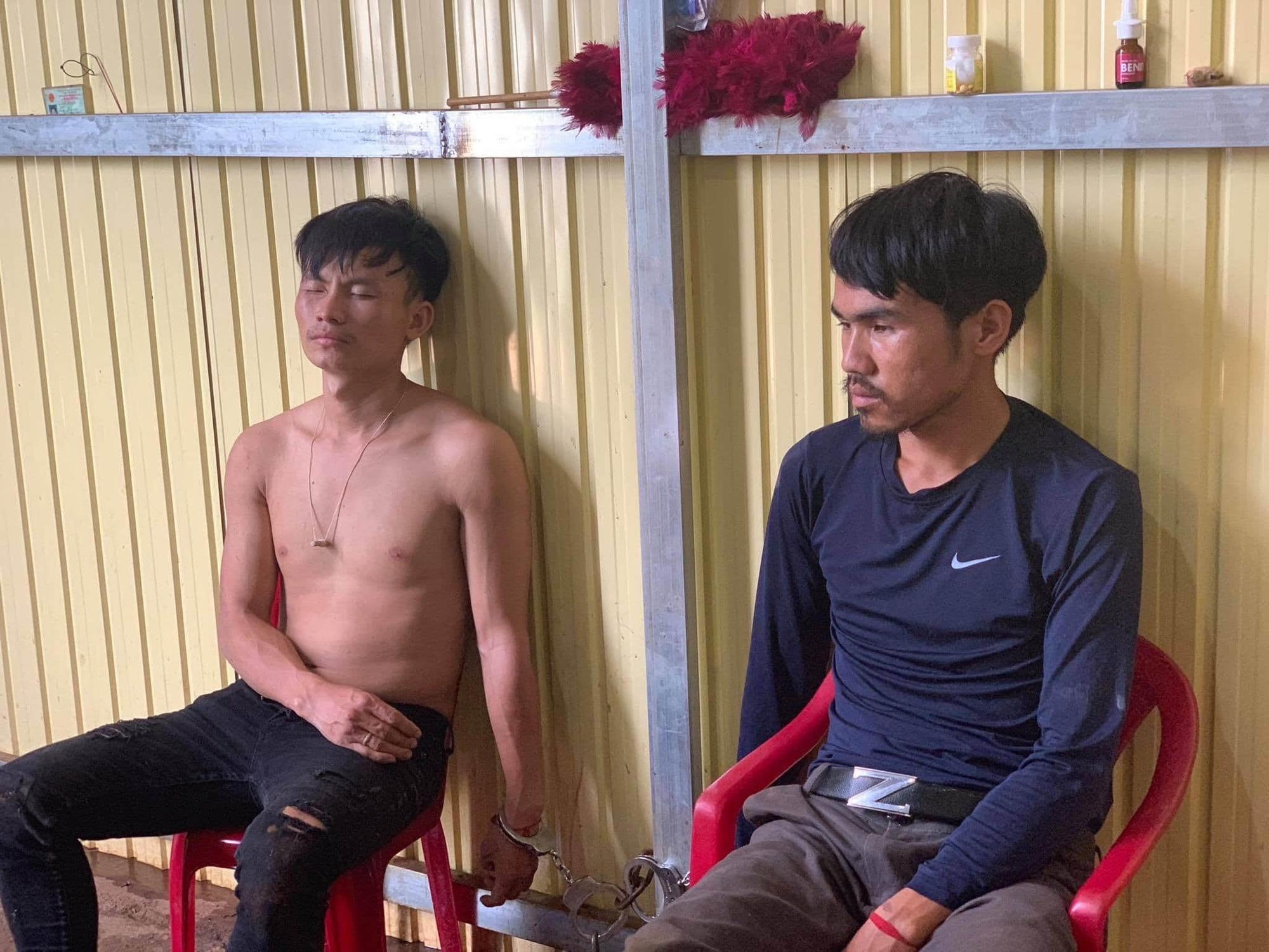 Vu Ba Tenh and Nhia Ho are arrested in Dak Lak Province, Vietnam, July 20, 2020. Photo: Tuoi Tre