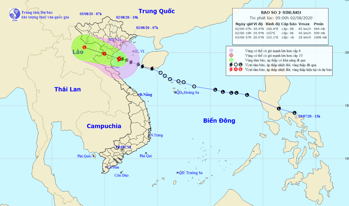 Storm Sinluka causes downpours throughout Vietnam