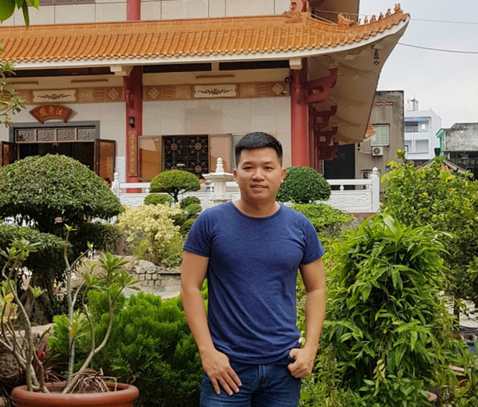 Director Pil Nguyen is pictured at Dieu Phap Pagoda in District 6, Ho Chi Minh City, Vietnam in this undated supplied photo.