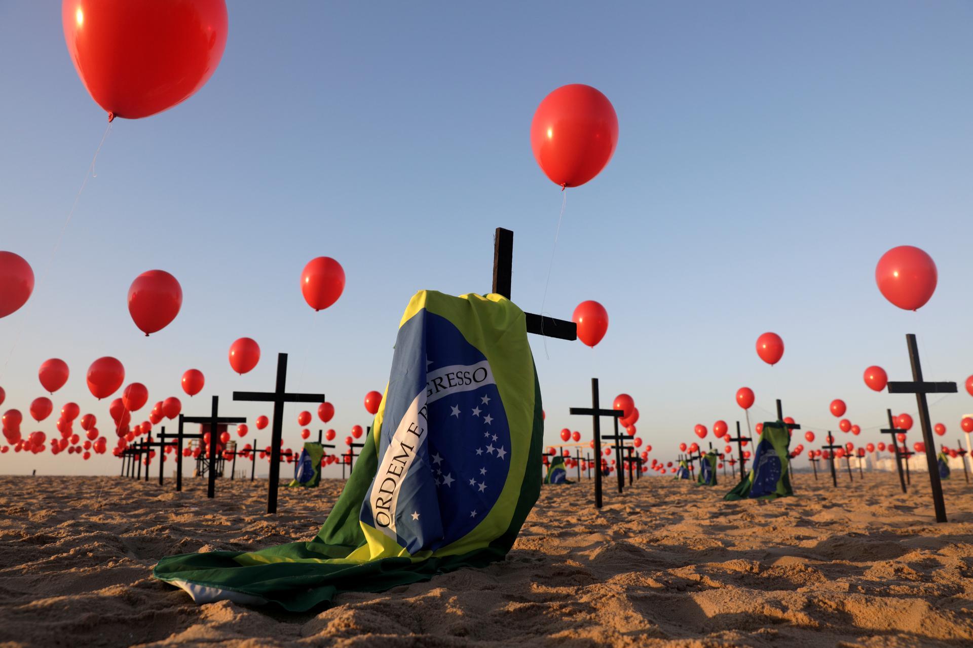 Brazil COVID-19 deaths reach 100,000 and barrel onward