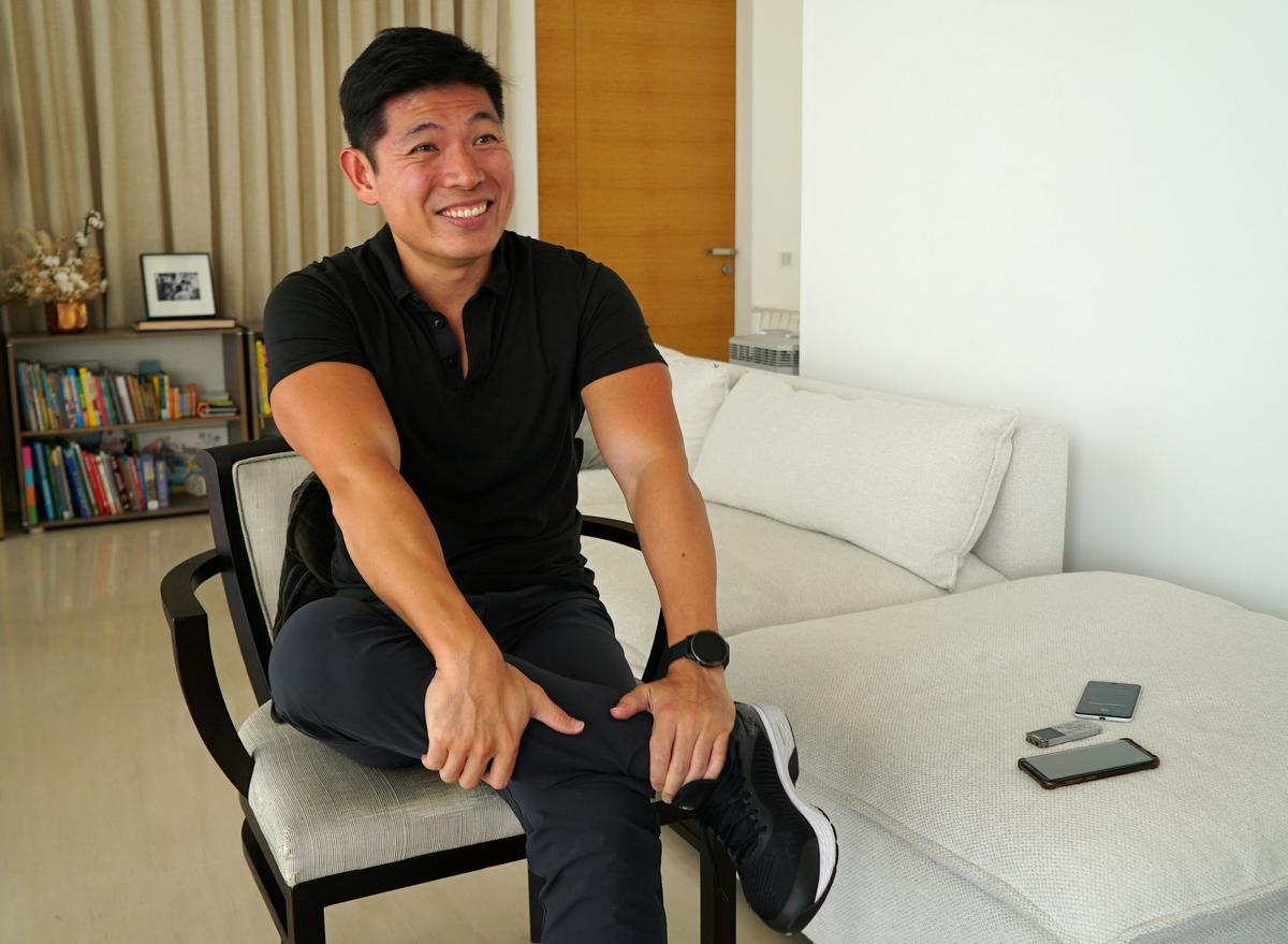 Grab CEO Anthony Tan speaks during an interview at his home in Singapore August 12, 2020. Photo: Reuters