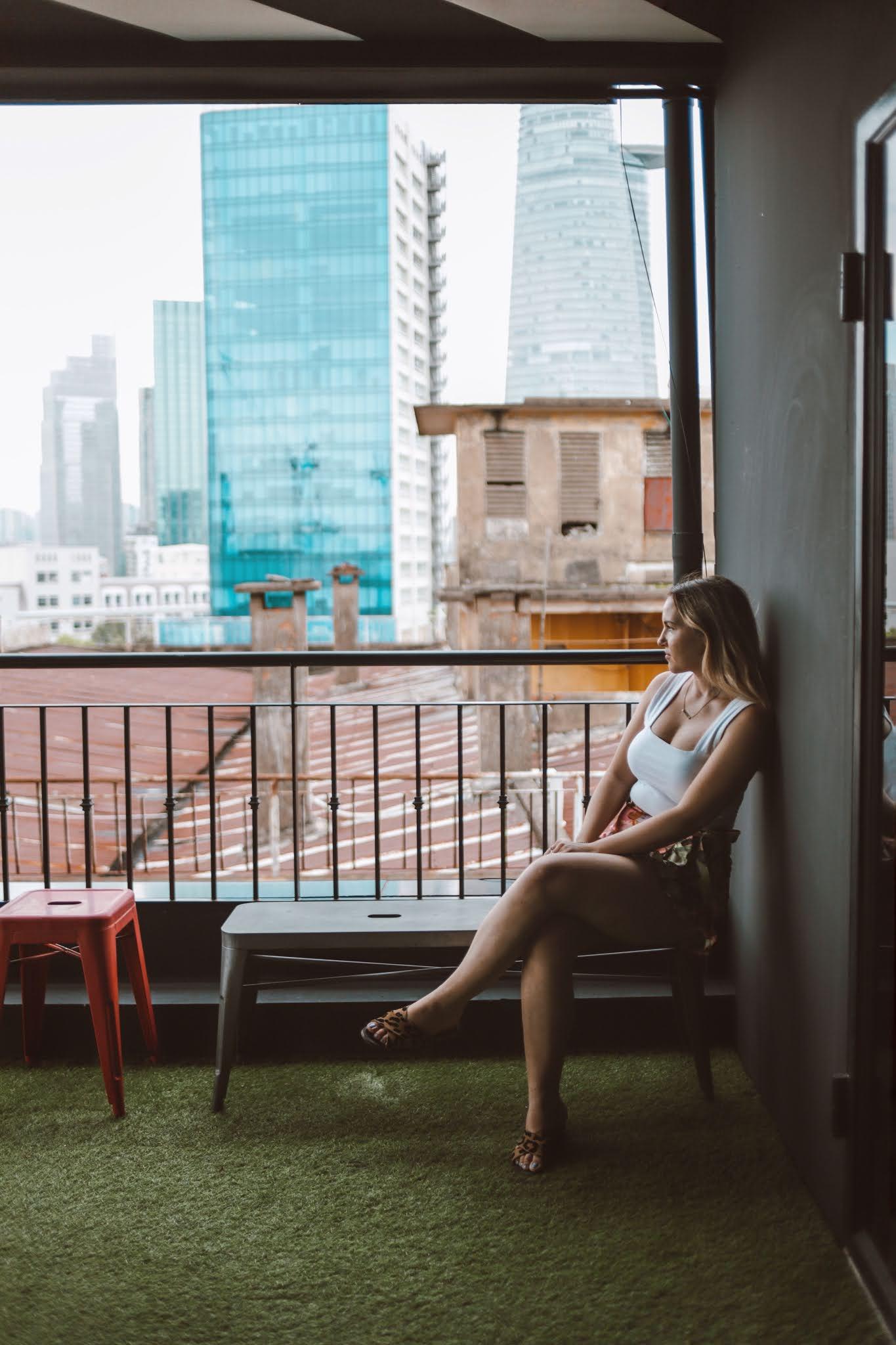 Alyshia Turchyn is seen in a photo during her staycation in Ho Chi Minh City. Photo: alyshiaturchyn.com