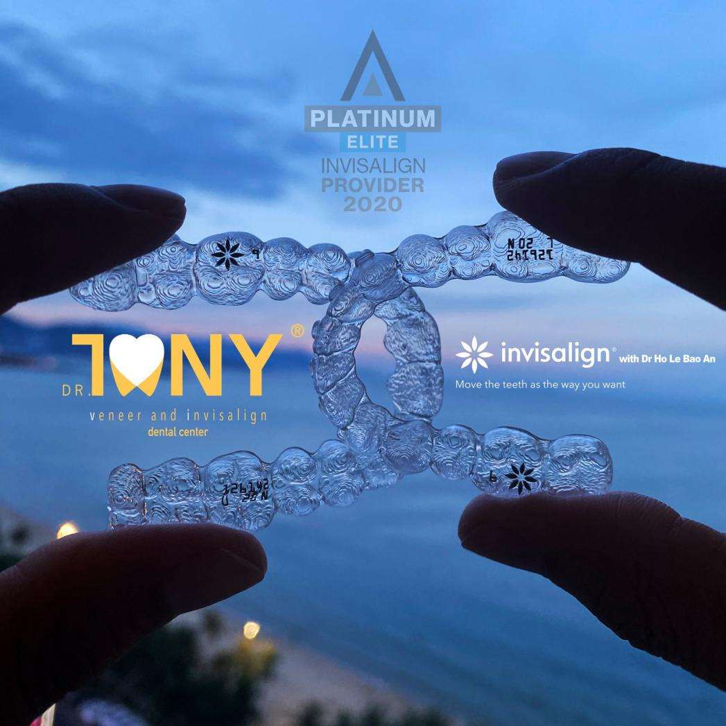 High-quality clear aligners provided by Dr. Tony Dental Center for Invisalign treatment