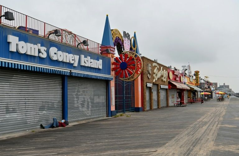 The coronavirus lockdown has shuttered some of Coney Island's most famous businesses. Photo: AFP