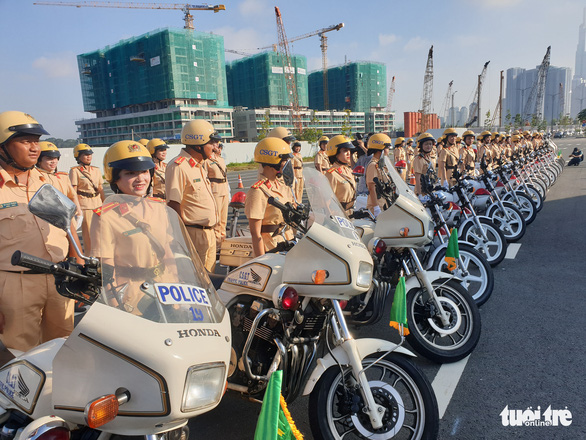 Ho Chi Minh City launches Vietnam's first all-women police escort team