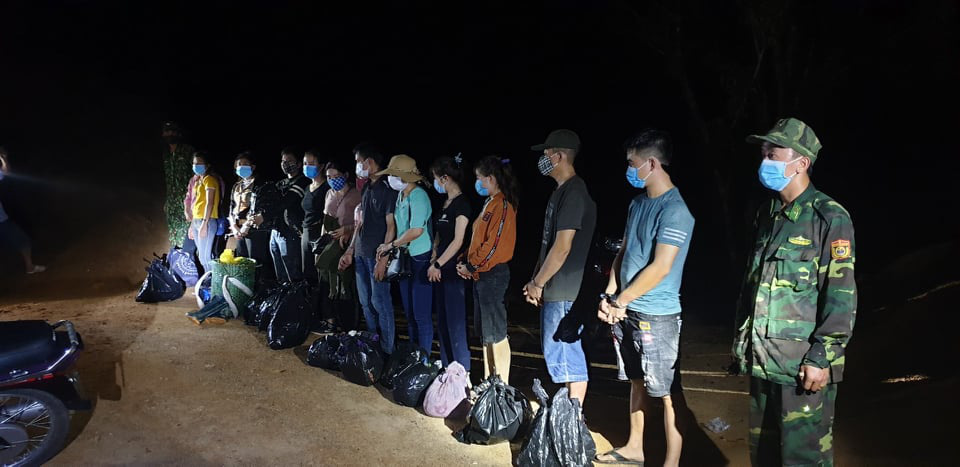 Over dozen caught attempting to illegally enter Laos from Vietnam amid COVID-19