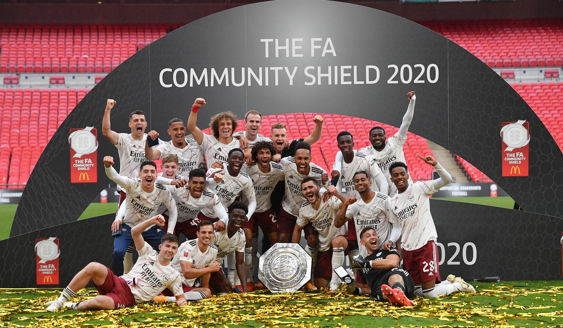 Arsenal beat Liverpool on penalties to lift FA Community Shield