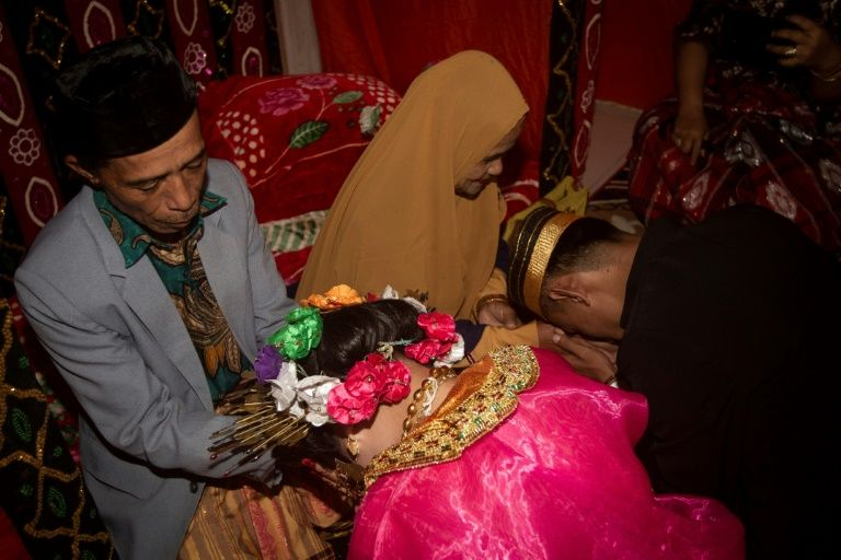 Child marriage has long been common in traditional communities from the Indonesian archipelago to India, Pakistan and Vietnam, but numbers had been decreasing as charities made inroads by encouraging access to education and women's health services. Photo: AFP