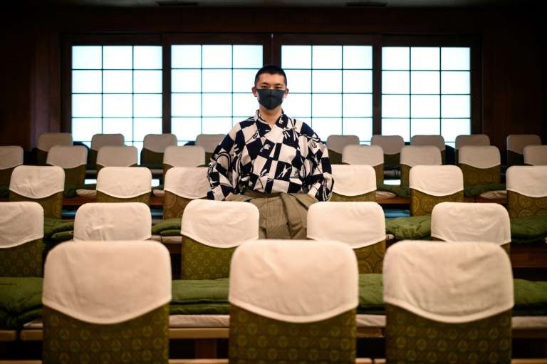 Noh theatre, which is on UNESCO's Intangible Cultural Heritage list, combines dance, music and drama in a minimalist approach that sets it apart from the more elaborate sets, makeup and costumes of Kabuki. Photo: AFP