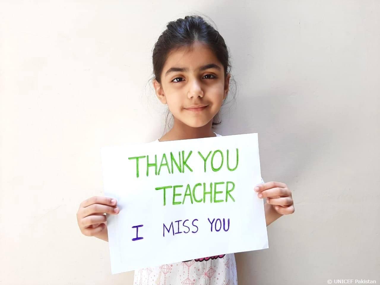 UNICEF campaign calls for appreciation of teachers amid COVID-19