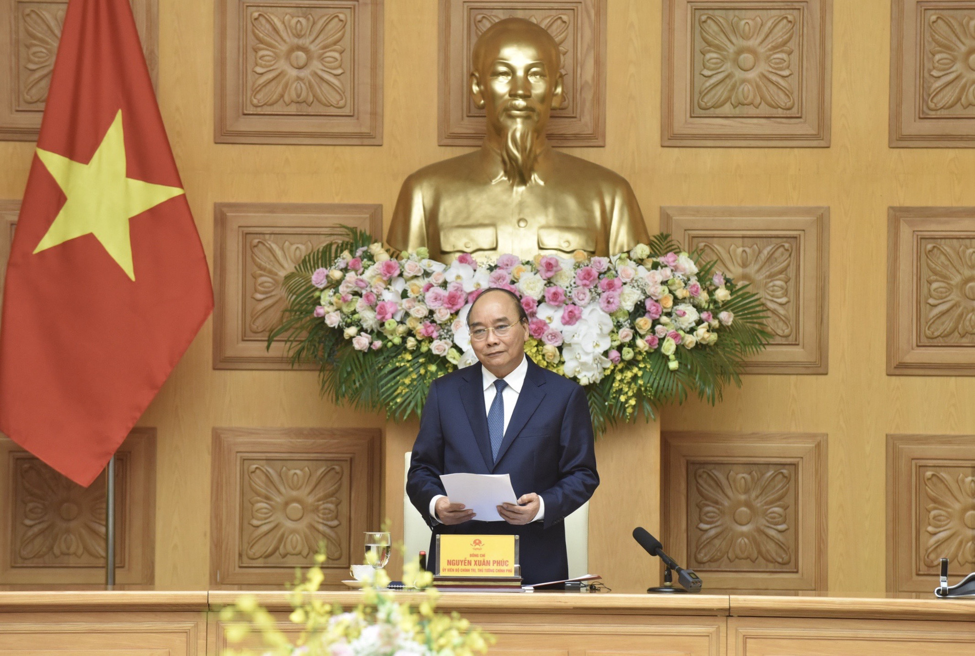 Vietnamese Prime Minister Nguyen Xuan Phuc speaks at a conference with Japanese investors in Hanoi, September 7, 2020. Photo: chinhphu.vn