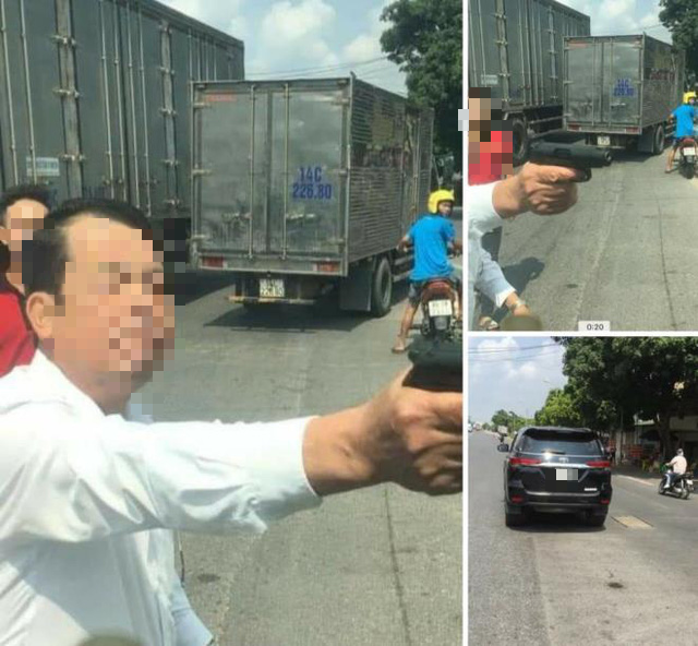 Vietnam company director nabbed for threatening trucker at gunpoint during road rage