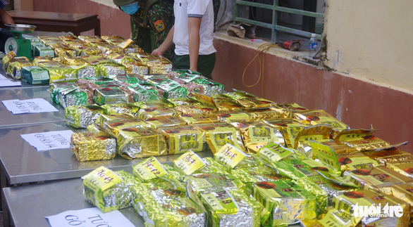 Vietnam, Laos cooperate in arresting 10 for transporting over 230kg of drugs across border