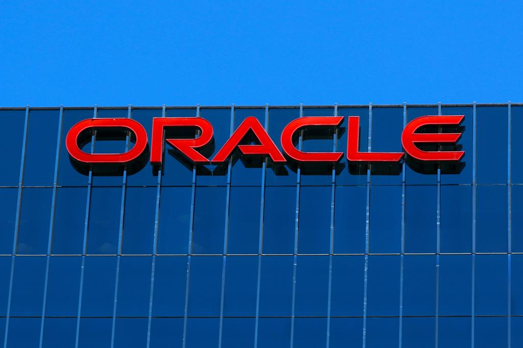 The Oracle logo is shown on an office building in Irvine, California, U.S. June 28, 2018. Photo: Reuters