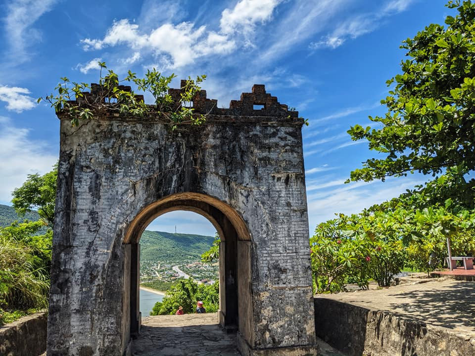 Hoanh Son Quan, a historical gate which lies at the border between Ha Tinh Province and Quang Binh Province in north-central Vietnam, is captured in this photo.
