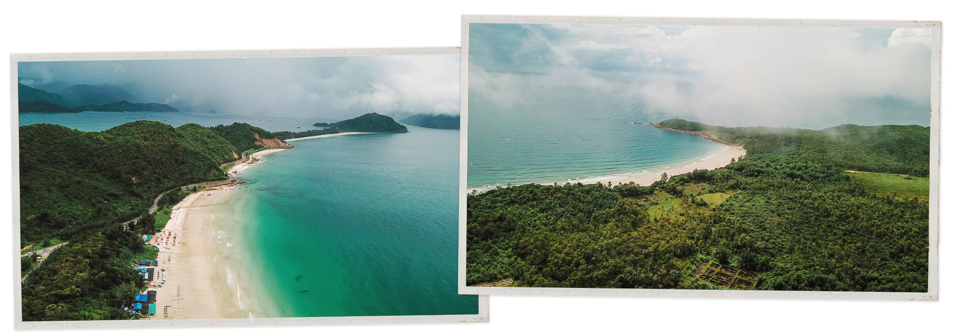 Aerial views of Quan Lan Beach in Van Don District, Quang Ninh Province, Vietnam. Photos: Nguyen Khanh / Tuoi Tre