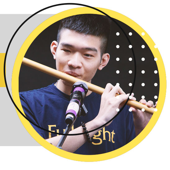 Tran Viet Hoang plays the flute in a file photo. Photo: M.G. - V.K. / Tuoi Tre
