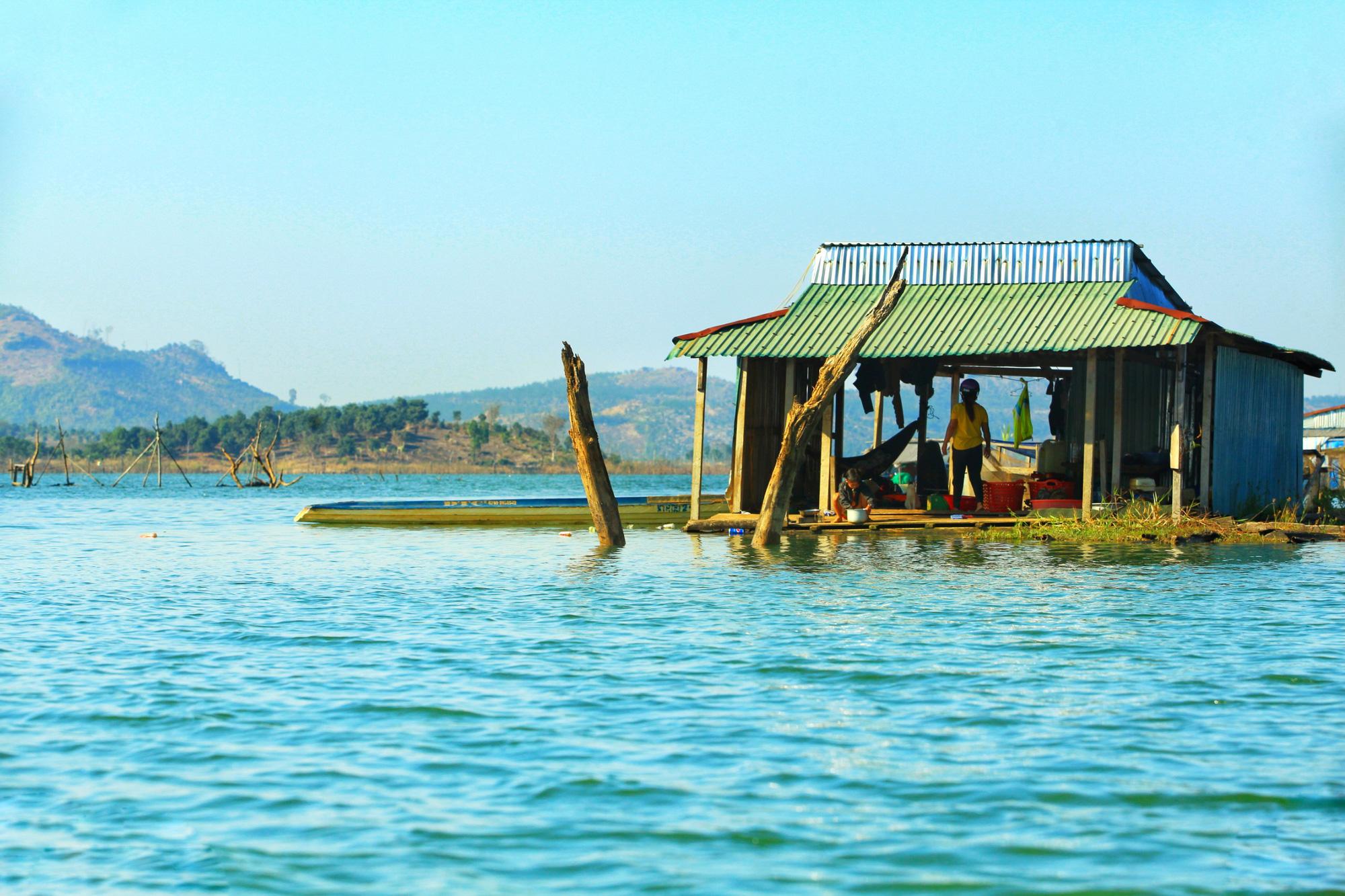 A fisherman's floating house at Momray fishing village in Kon Tum Province, Vietnam. Photo: Chieu Ly / Tuoi Tre