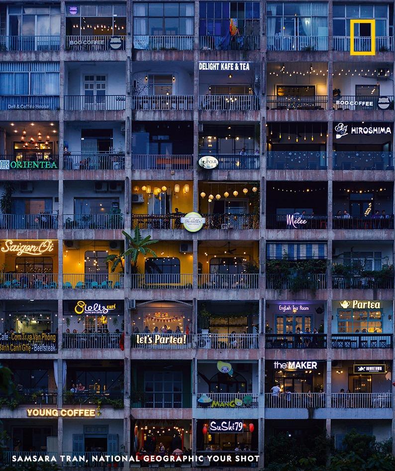 Saigon café apartment building featured on National Geographic UK