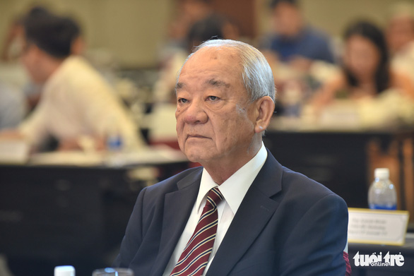 Kajiwara Junichi, general director of Acecook Vietnam, attends the 'Day of Pho' press conference in Ho Chi Minh City, September 30, 2020. Photo: Duyen Phan / Tuoi Tre