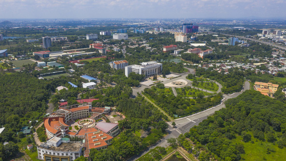 An aerial view of the Vietnam National University - Ho Chi Minh City in Thu Duc District, Ho Chi Minh City. Photo: Quang Dinh / Tuoi Tre