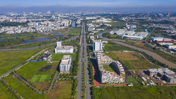 An aerial view of the Hi-tech Park in District 9, Ho Chi Minh City. Photo: Quang Dinh / Tuoi Tre