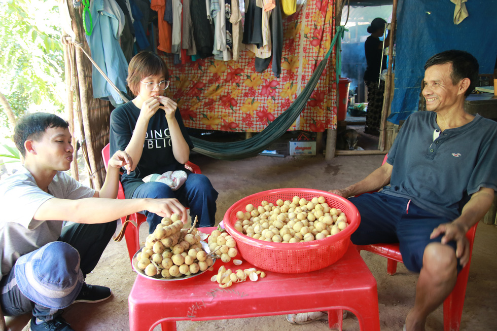Visitors are served with langsat fruits if they come to a Co Tu family in the langsat season
