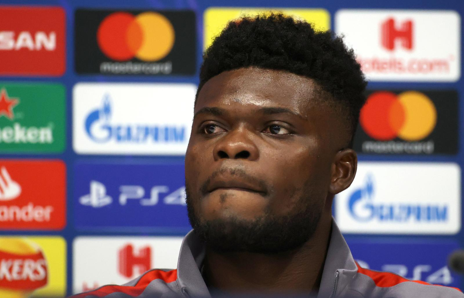 Atletico Madrid's Thomas Partey during the press conference - Champions League - Atletico Madrid Press Conference & Training - Anfield, Liverpool, Britain - March 10, 2020. Photo: Reuters