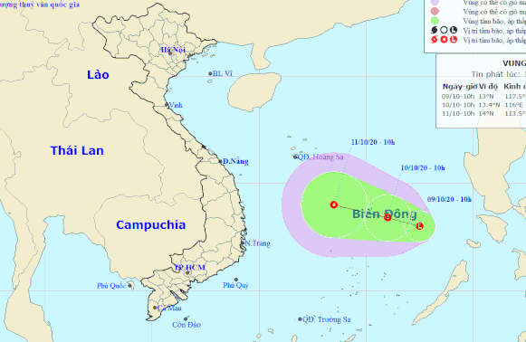 New low-pressure area heads toward central Vietnam