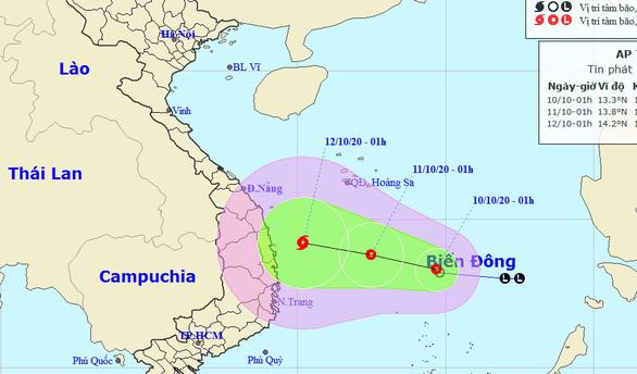New tropical depression bound for central Vietnam