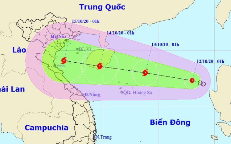 Another tropical depression speeds toward central Vietnam