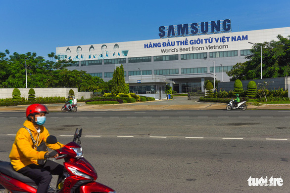 The Samsung Electronics Complex in the Saigon Hi-Tech Park of Ho Chi Minh City's District 9. Photo: Quang Dinh / Tuoi Tre