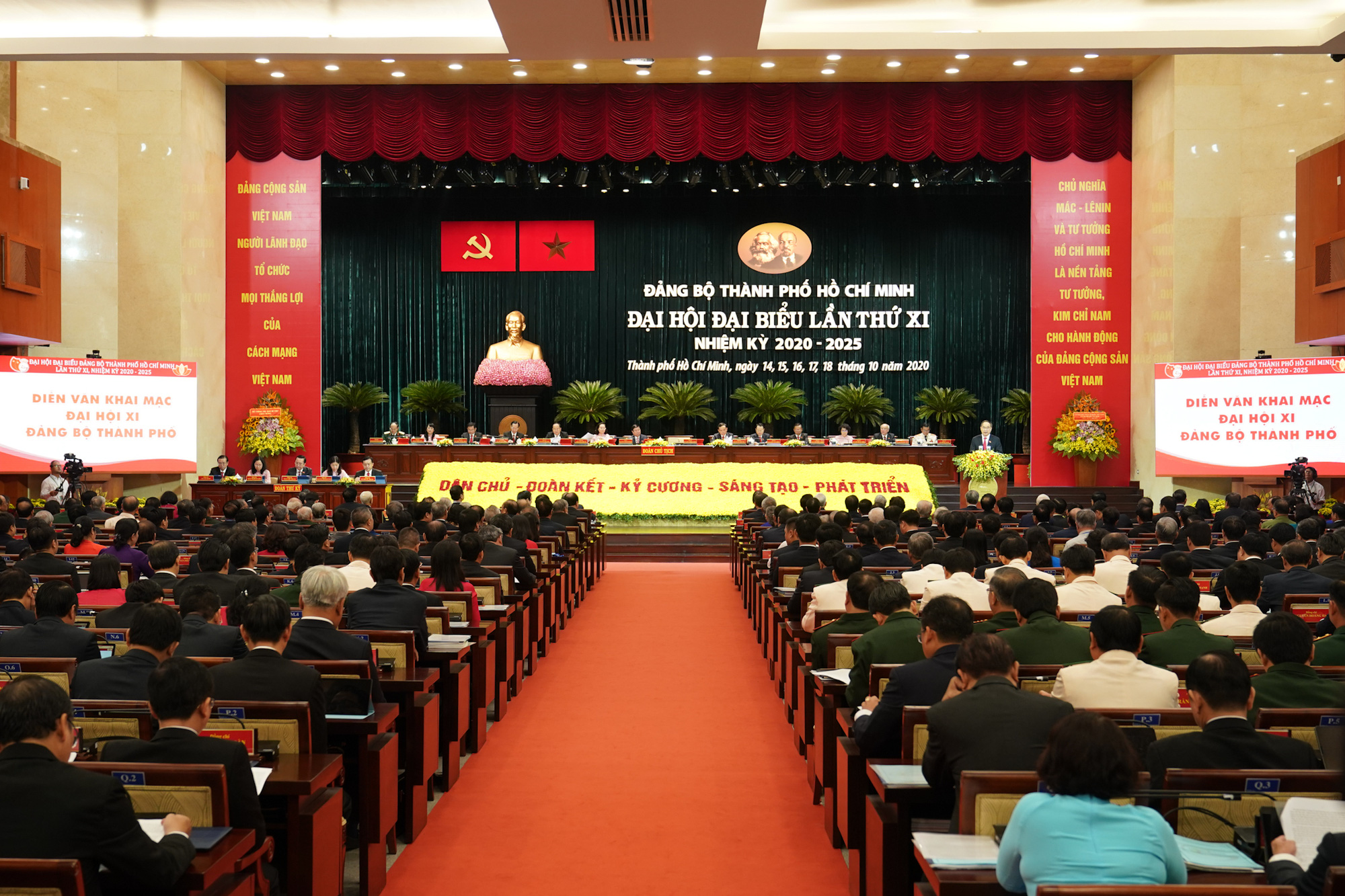 The 11th Congress of the Ho Chi Minh City Party organization opens on October 15, 2020. Photo: Tu Trung / Tuoi Tre