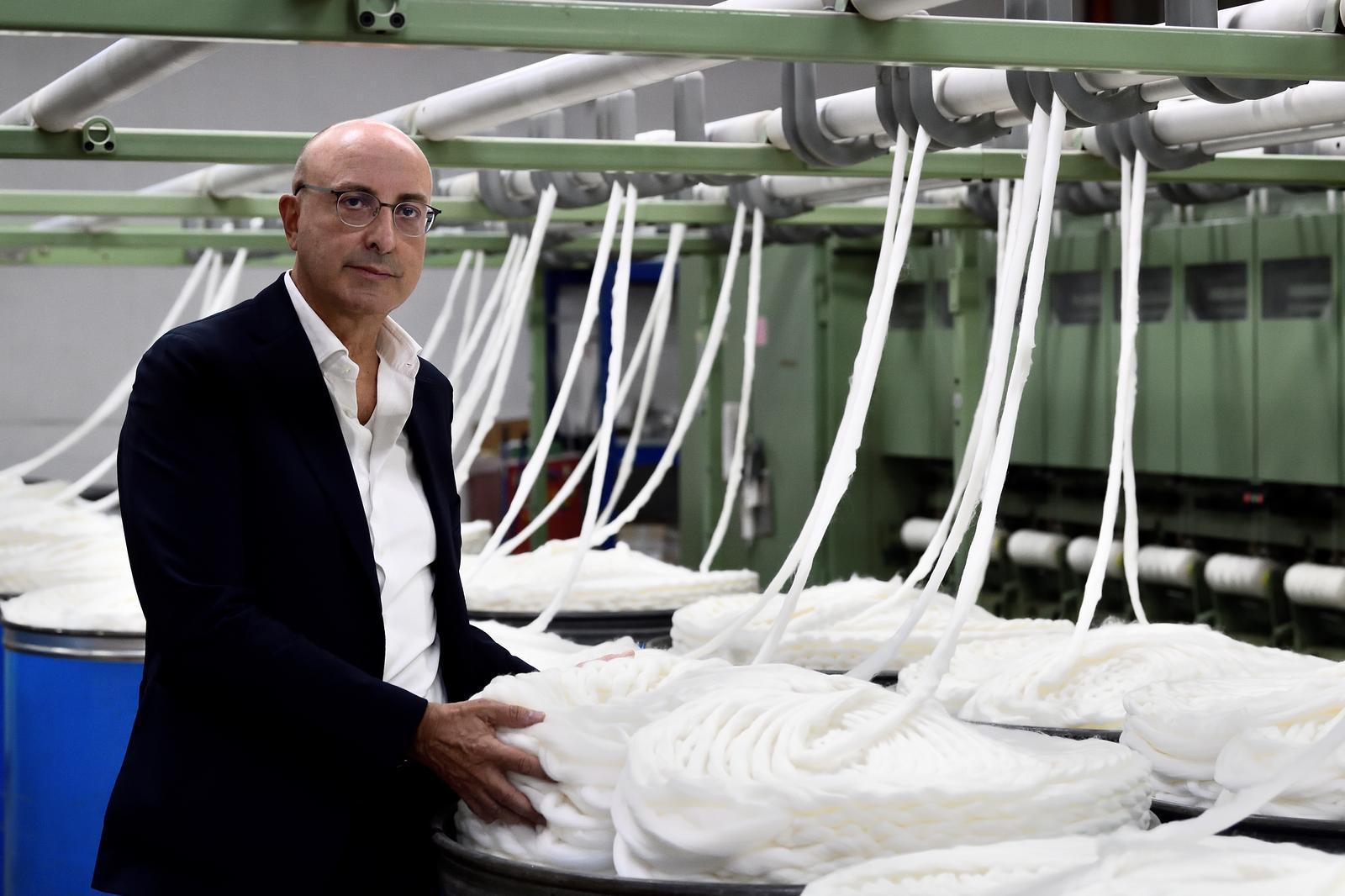 Managing Director Silvio Botto Poala poses for a photograph at Botto Giuseppe & Figli wool mill in Valdilana, near Biella, northern Italy, October 8, 2020. Picture taken October 8, 2020. Photo: Reuters