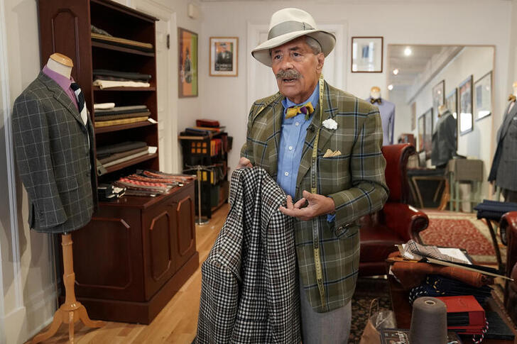 Domenico 'Mimmo' Spano speaks as he poses for a photo at his atelier in the Manhattan borough of New York City, New York, U.S., October 8, 2020. Photo: Reuters
