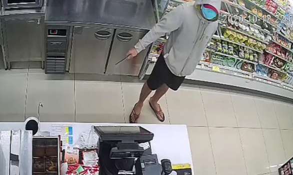 Man nabbed for robbing convenience store with knife in Ho Chi Minh City