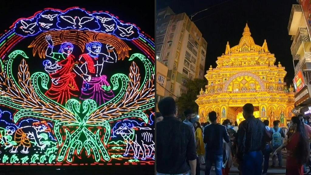 Durga Puja annual Hindu festival kicks off amid virus restrictions in India. Photo: AFP