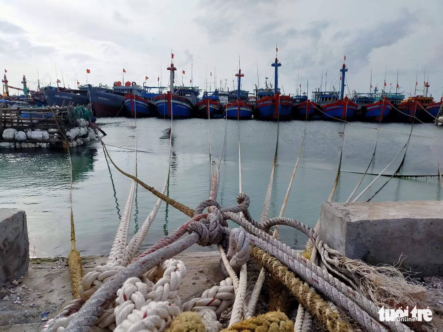 Fishing boats are docked in Quang Ngai Province, Vietnam, October 27, 2020. Photo: Chi Tam / Tuoi Tre